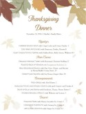 Autumn Buffet Menu