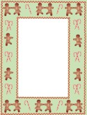 Gingerbread Candy Cane Border