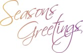 Greeting for the Seasons Clipart