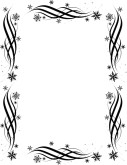 Black and White Snowflake Border