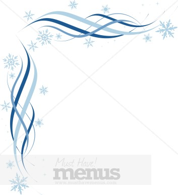 Snowflake Clip Art Menu Borders - MustHaveMenus( 36 found )