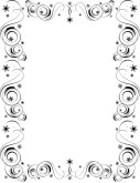 Black and White Spirals Stars Border