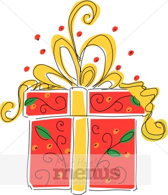 Gift box clipart christmas menu images negle Image collections