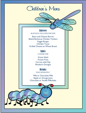 Customize Kids Menu
