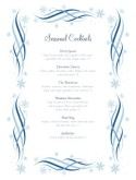 Swirly Cocktail Menu