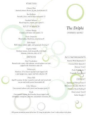 Fine dining restaurant menu fine dining menus for Fine dining menu template free