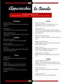 Red and Black Italian Dinner Menu
