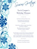 Blue Snowflakes Christmas Menu