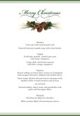 Simple Setting Christmas Menu