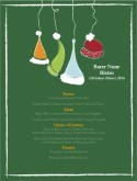 Winter Hat Christmas Menu