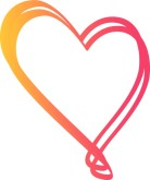 Orange and Pink Fun Heart Valentine Image