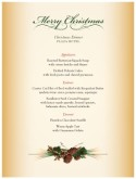 Seasonal Centerpiece Christmas Menu