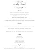 Formal Brunch Menu