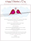 Love Birds Prix Fixe Menu