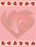 Hearts in Roses Menu Backgrounds