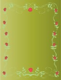 Rose Garland Menu Background