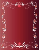 Roses and Vines Red Menu Background