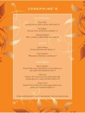 Orange Brocade Fine Dining Menu