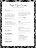Black and White Wedding Catering Menu