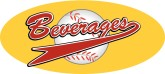 Beverages Basball Pennant Word Art