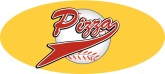 Pizza Basball Pennant Word Art