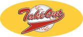 Take Out  Basball Pennant Word Art