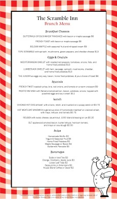 Red Check Breakfast Menu Long Template Archive
