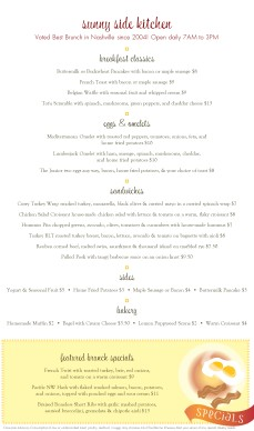Customize Breakfast Menu Template Long