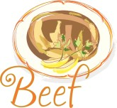 Beef Watercolor Word Art