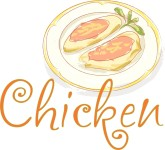 Chicken Watercolor Word Art