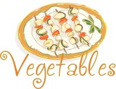 Vegetables Watercolor Word Art