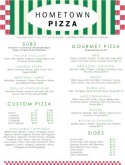Bricks Pizza Menu