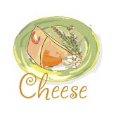 Cheese Watercolor Word Art