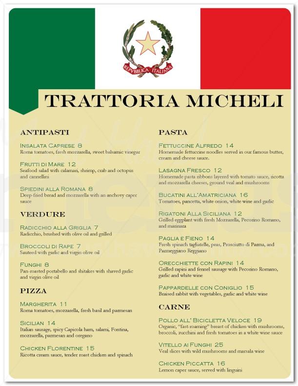 Italian Menu Italian Menu Templates Canva Italian Restaurant Menu