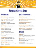 Sunrise Coffee House Menu