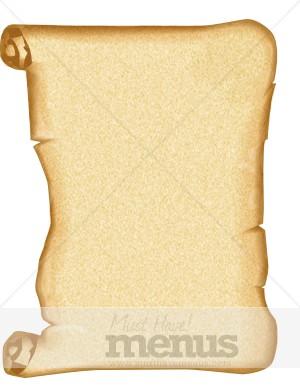 parchment scroll scroll menu background