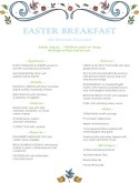 Pastel Easter Brunch Menu