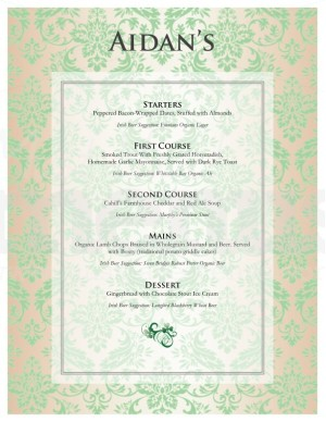 irish tasting menu template template archive With irish menu templates