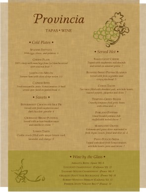 tapas menu template parchment tapas menu bar menus