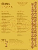 Tapas Food Menu