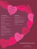 Paper Hearts Valentine's Day Menu