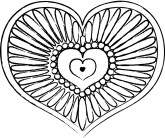 Decorative Petal Heart