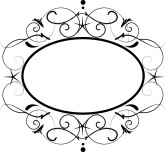 Delicate Scroll Oval Frame
