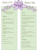 Mothers Day Flower Menu