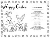 Kid's Easter Bunnies Menu
