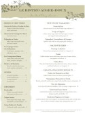 Garlic Bistro French Menu