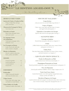 Customize Garlic Bistro French Menu