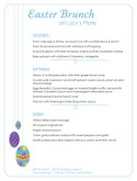 Easter Eggs Easter Menu