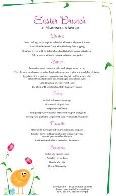 easter menu template