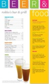 Color Blocks Pub Food Menu Long